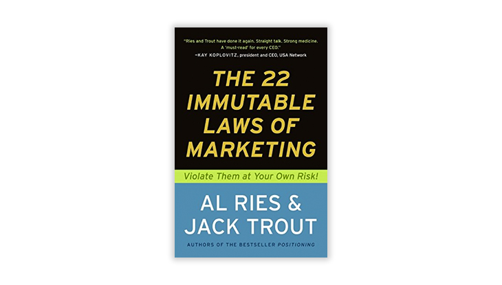 The 22 Immutable Laws of Marketing book cover