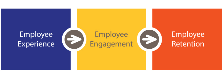 Flow Chart to show how Employee Experience works