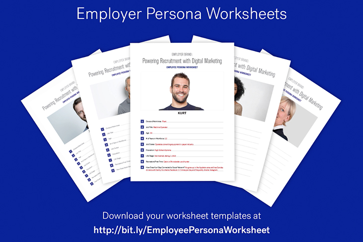 Employee Persona Worksheets laid out