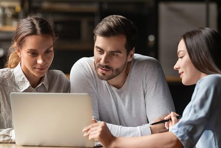 work team interested in inbound marketing content