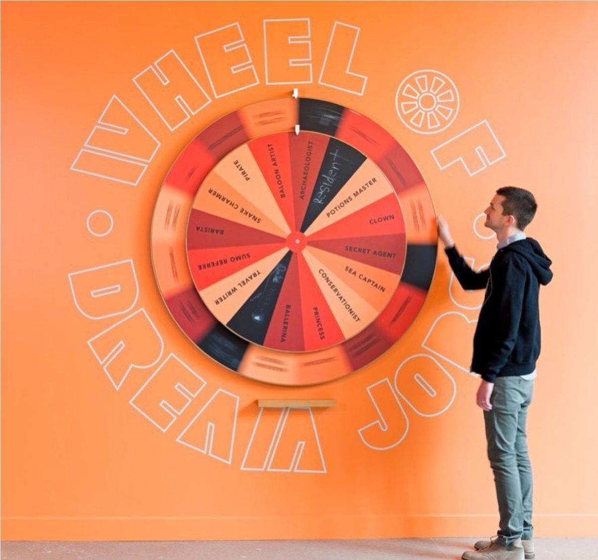 "LinkedIn Headquarters ""Wheel of Dream Jobs"""